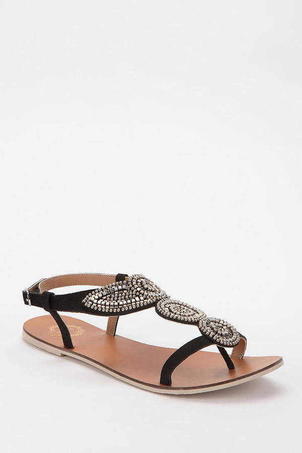 Urban Outfitters Ecote Metal Bead T-Strap Sandal