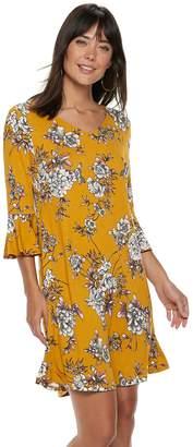 Apt. 9 Women's Ribbed Bell Sleeve A-Line Dress