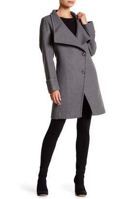 Trina Turk Fiona Asymmetrical Wool Blend Coat