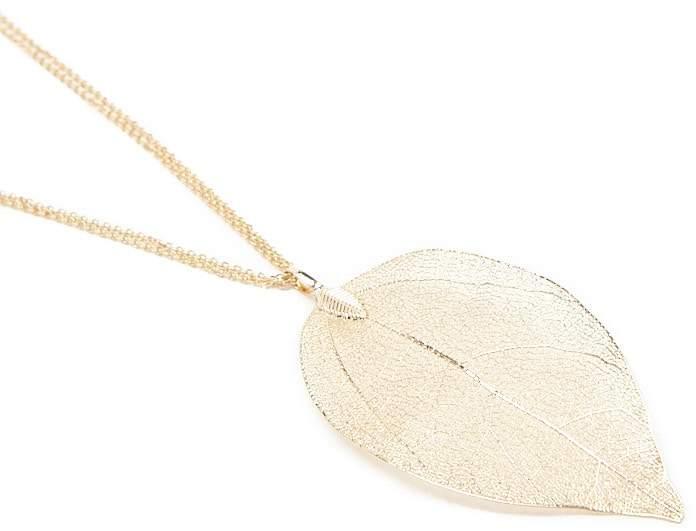 Forever 21 Delicate Leaf Pendant Necklace