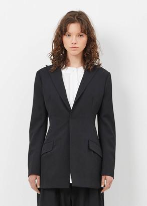 Yohji Yamamoto black peak slim jacket $1,620 thestylecure.com