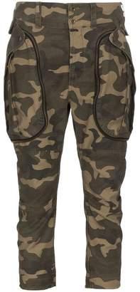 Faith Connexion Low Rise Camo Print Trousers