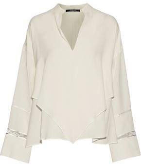 Derek Lam Layered Cutout Silk Crepe De Chine Blouse