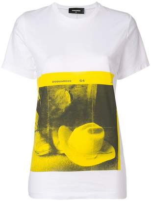 DSQUARED2 cowboy hat print T-shirt