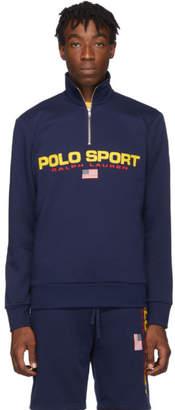 Polo Ralph Lauren Navy Fleece Half-Zip Sweatshirt