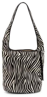 Elizabeth and James Finley Genuine Calf Hair Courier Bucket Bag