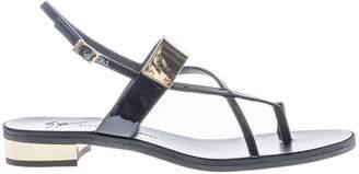Giuseppe Zanotti Bar Strap Flat Sandals