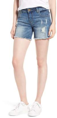 KUT from the Kloth Gidget Distressed Denim Shorts
