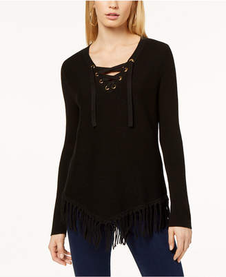 INC International Concepts I.n.c. Fringe-Trim Sweater, Created for Macy's