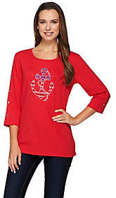Factory Quacker Stars & Stripes Anchor's Away3/4 Slv T-shirt