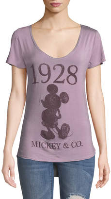 Co Recycled Karma Disney 1928 Mickey & Scoop Neck Graphic Tee