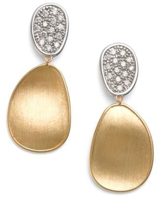 Marco Bicego Lunaria Diamond Drop Earrings