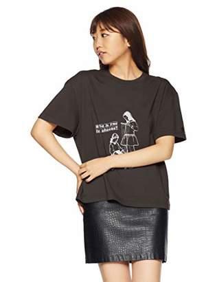 Snidel (スナイデル) - [スナイデル] RAGE ロックTシャツ SWCT185126 レディース BLKxWHT 日本 F (FREE サイズ)
