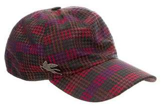 Etro Houndstooth Silk Hat