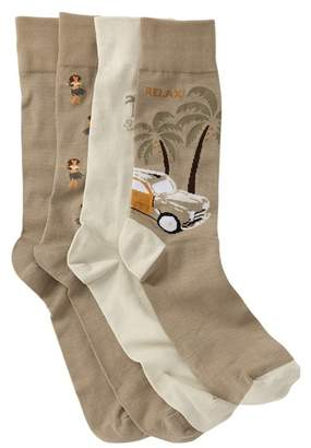 Tommy Bahama Beach Crew Socks - Pack of 4