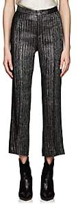 Isabel Marant Women's Denlo Metallic Striped Trousers - Silver