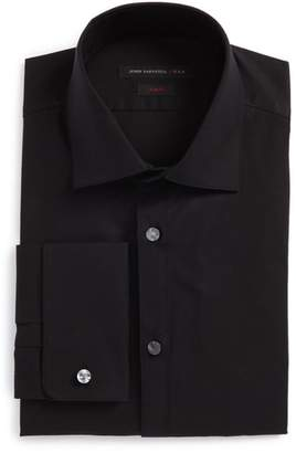 John Varvatos Slim Fit Stretch Solid Dress Shirt