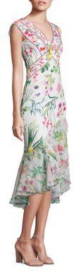 Tadashi Shoji Floral Cap Sleeve Dress $408 thestylecure.com