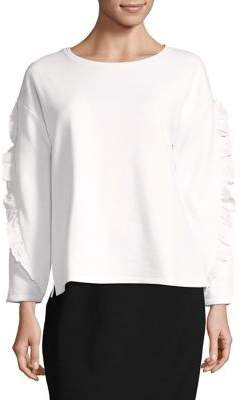 Lord & Taylor Ruffle Sleeve Pullover