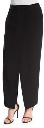DKNY Crepe Wrap-Front Pants, Black $495 thestylecure.com
