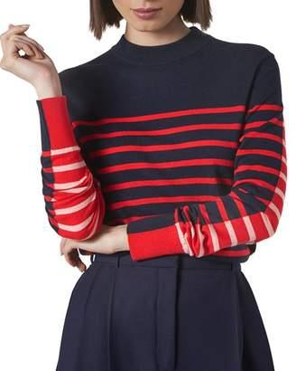 LK Bennett L.K.Bennett Carson Striped Color-Blocked Sweater