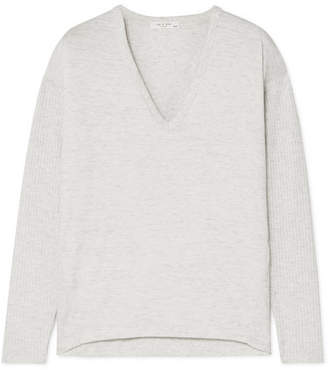Rag & Bone Clara Stretch-jersey Top - Gray