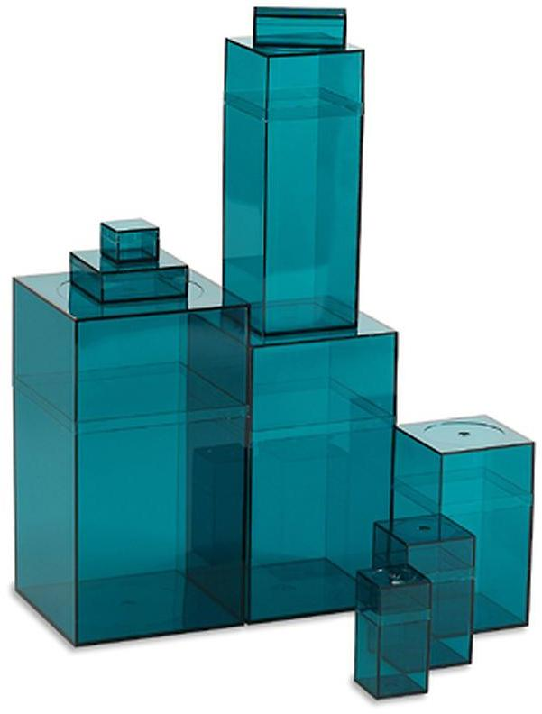 Container Store Amac Box Turquoise