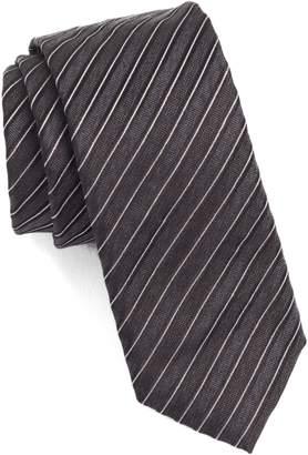 BOSS Diagonal Stripe Silk Skinny Tie