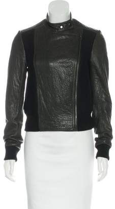 Theory Wool-Accented Leather Jacket
