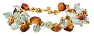 Laura Gibson Carved Gemstone Briolette Bracelet