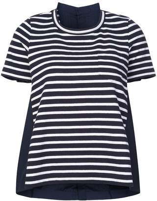 Sacai striped T-shirt