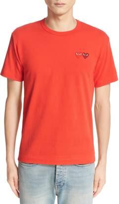 Comme des Garcons Twin Hearts Jersey T-Shirt