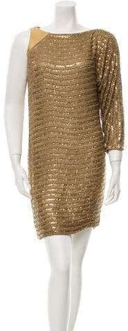 Kaufman Franco Kaufmanfranco Sequin-Accented One-Sleeve Dress
