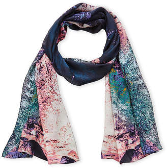 Vince Camuto Nordic Woods Silk Scarf
