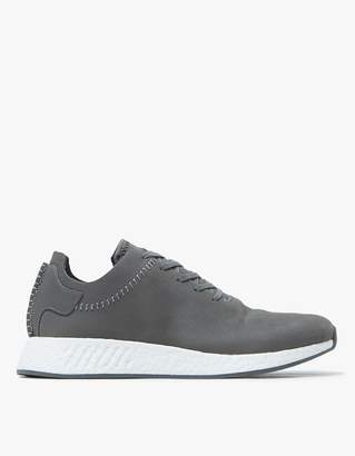 Wings + Horns Adidas X Wings+Horns NMD_R2 Leather in Ash/Off White