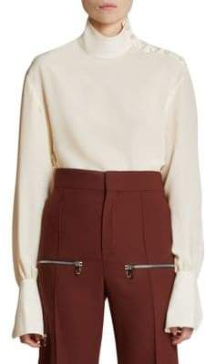 Chloé Long Sleeve Silk Blouse