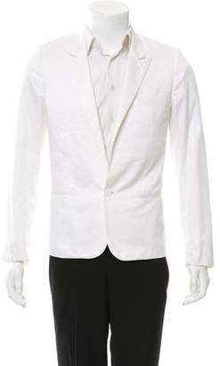 Christian Dior One-Button Peak-Lapel Blazer
