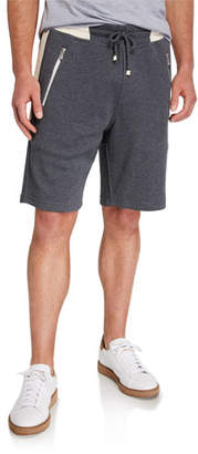 Brunello Cucinelli Men's Colorblock Knit Bermuda Shorts