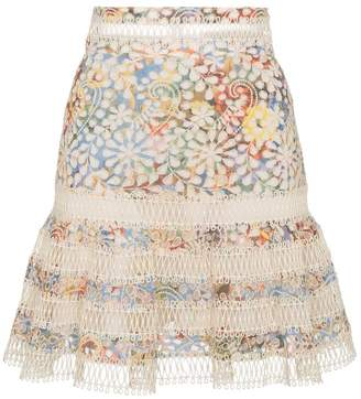 Zimmermann Mini skirt with floral lace insert