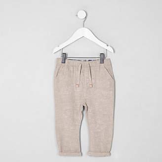 River Island Mini boys stone linen pants