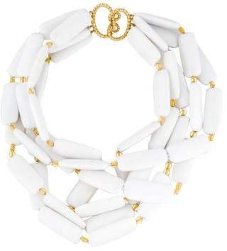 Verdura White Agate Multi Strand Necklace