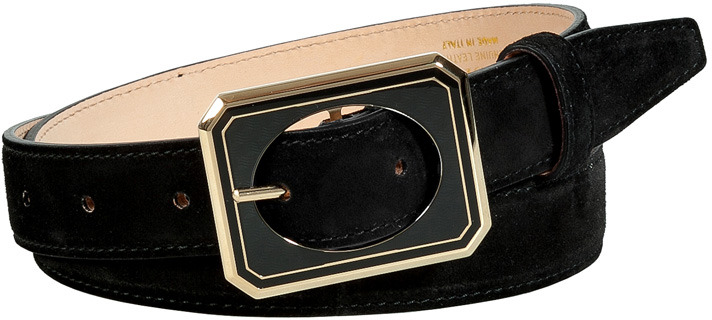 Emilio Pucci Black Suede Belt