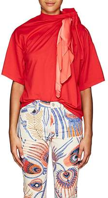 Y/Project Women's Scarf-Detail Cotton T-Shirt