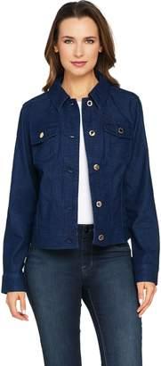 C. Wonder Button Front Denim Jean Jacket