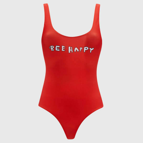 Women's Profilic Bee Happy Swimsuit Big Apple Red