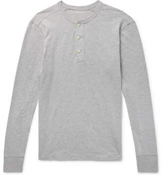 J.Crew Garment-Dyed Slub Cotton-Jersey Henley T-Shirt - Light gray
