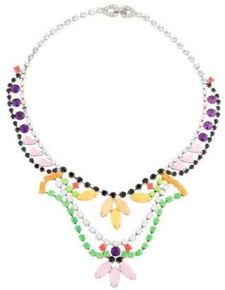 Tom Binns Ethno Teknik Painted Crystal Collar Necklace