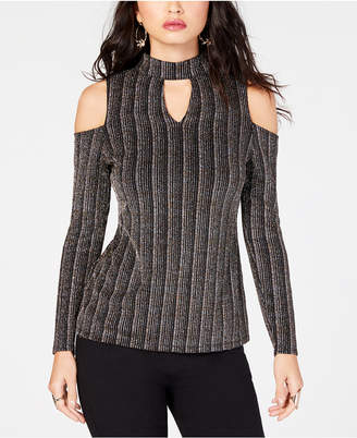 Thalia Sodi Metallic Cold-Shoulder Top, Created for Macy's