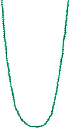 """Jai JAI Sterling Silver 36"""" Green Agate Bead Necklace"""