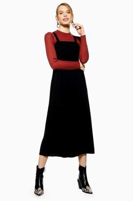 Topshop Midi Pinafore Slip Dress
